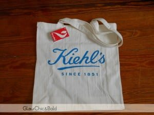 Kiehl's Giveaway bag beside