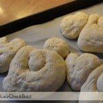 Coniglietti di pane dopo lievitazione