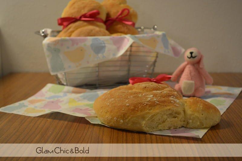 conigli di pane per Pasqua