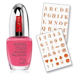 Nail art Pupa Red Messages
