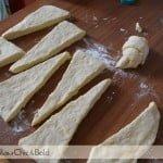 realizzazione croissant sfogliati