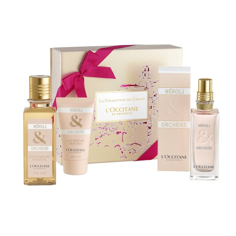 Box Néroli & Orchidée 59€ - gel doccia 175 ml, latte 50 ml, Eau de Toilette 75 ml