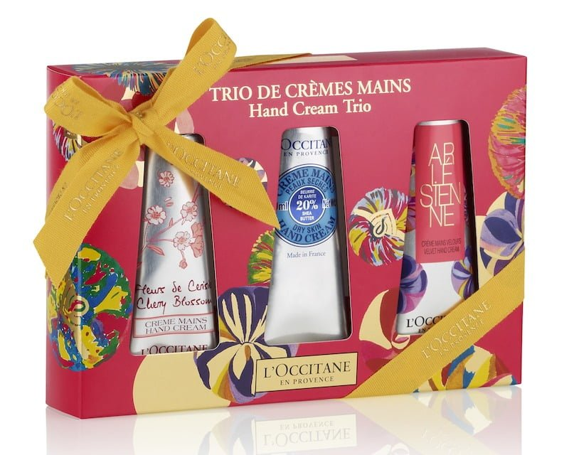 Trio di creme mani 20 € - crema mani Fleurs de Cerisier 30 ml, Crema mani Karité 30 ml, Crema mani Arlésienne 30 ml