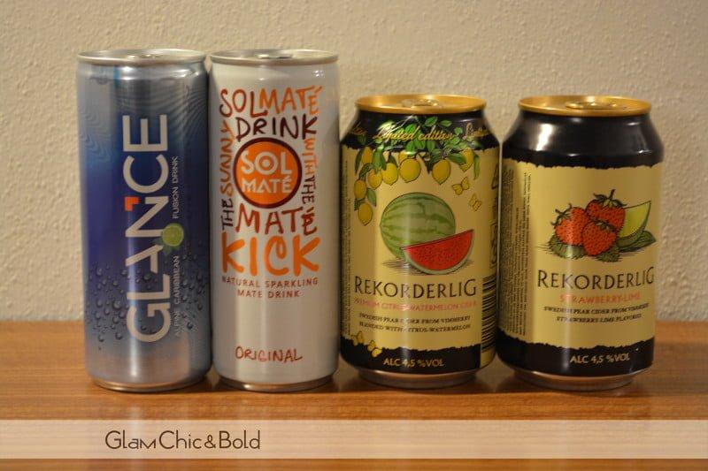 Drink Sol Maté, Glance e Rekorderlig