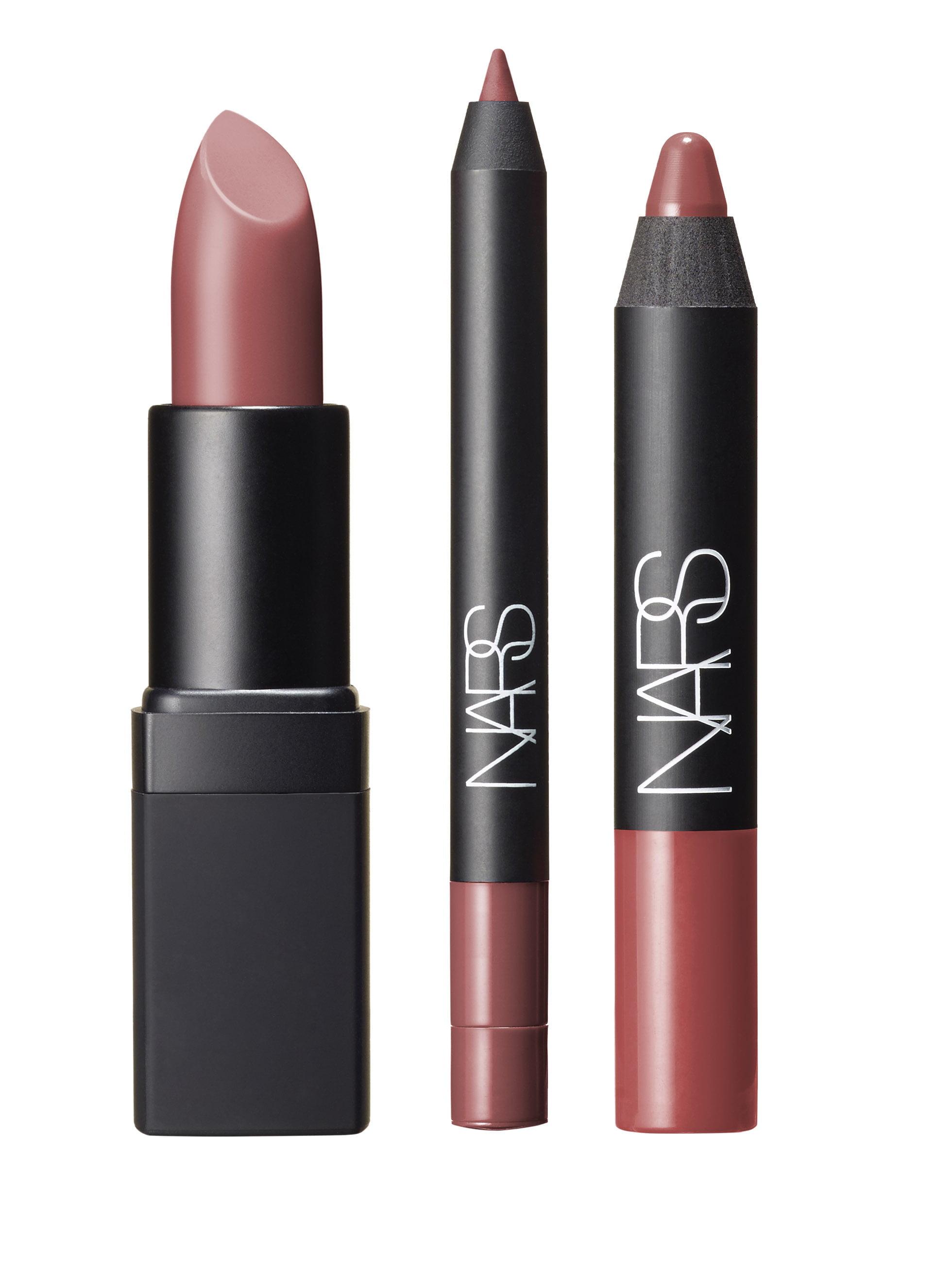 A Woman's face nude lip set