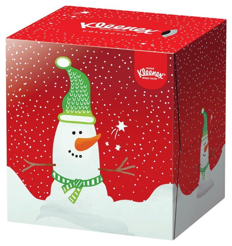 Fazzoletti Kleenex Pupazzo di Neve Natale 2015