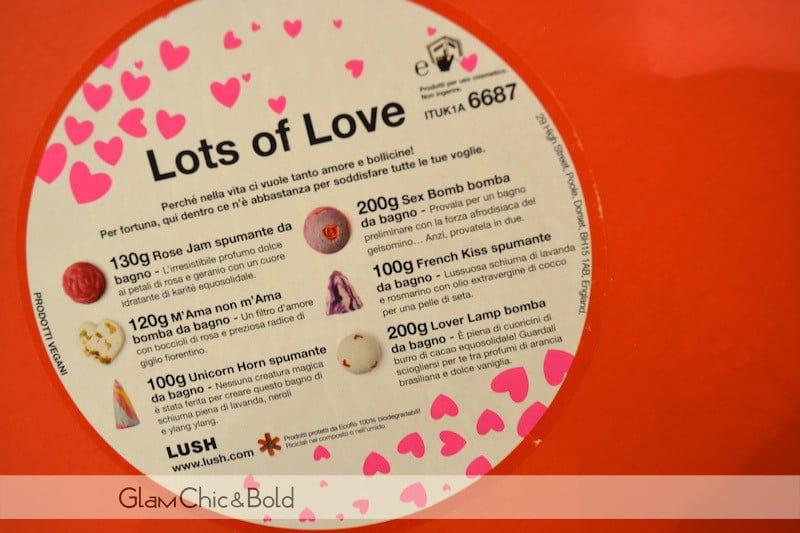Lots of Love Lush San Valentino