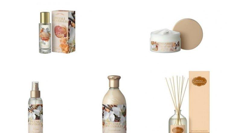 Nuova collezione bottega verde petali di vaniglia