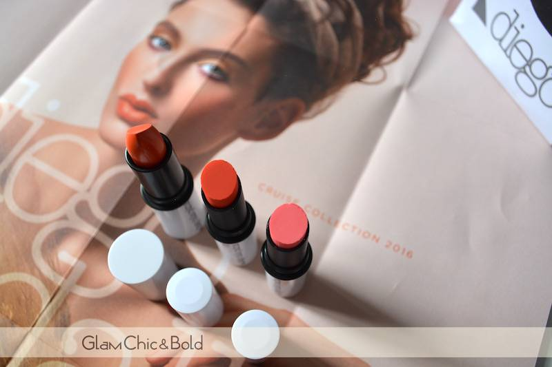 Red Orange Lipstick & Shiny Lipstick Cruise Collection Diego Dalla Palma