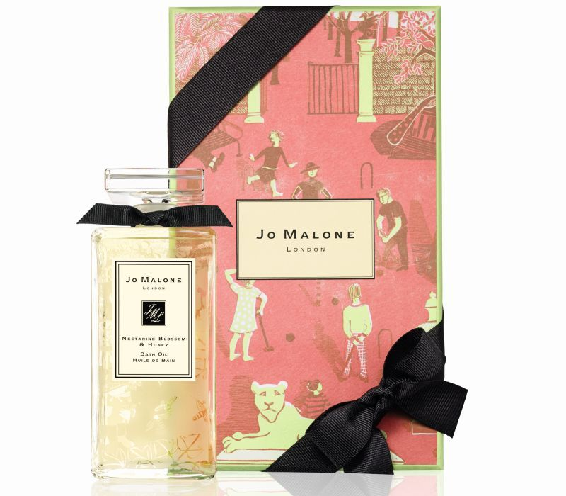 Nectarine Blossom & Honey Glass Decanter Bath Oil Jo Malone Summer Afternoon