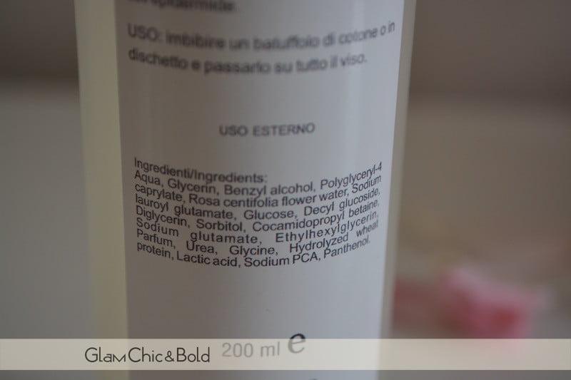 INCI Rosa Micella Substantia Cosmetics