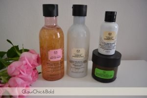 The body shop face cleaning products