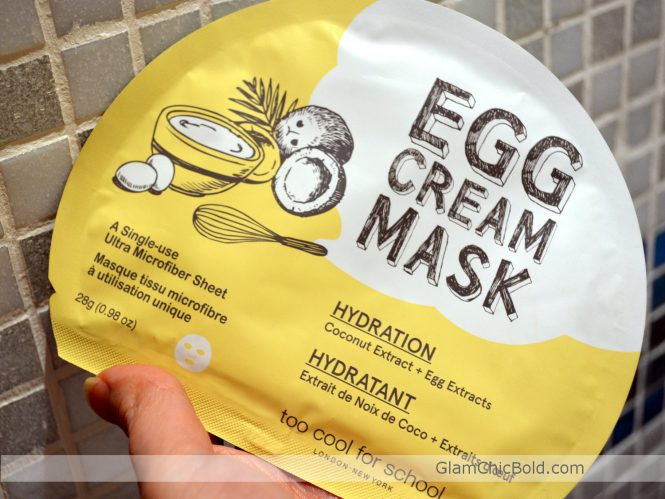 Egg Cream Mask Too Cool For School