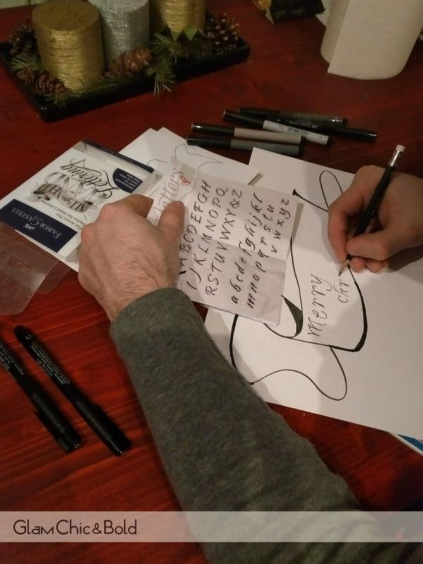 hand lettering Faber-Castel
